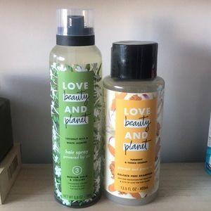 LOVE BEAUTY & PLANET shampoo
